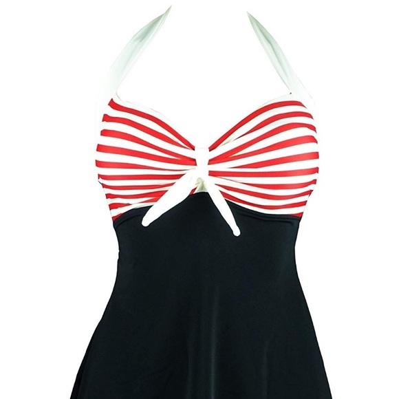 eaa14361382 Women's plus size retro style bathing suit NWT